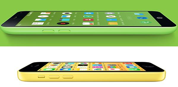 Meizu iPhone 5c yellow green