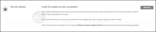 Security Update OS X