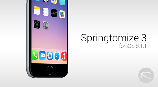 Springtomize 3 iOS 811 main