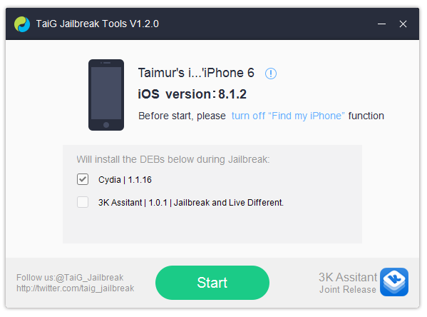 Jailbreak iOS 8.1.2 And iOS 8.1.1 With Taig On iPhone 6, 6 Plus, 5s