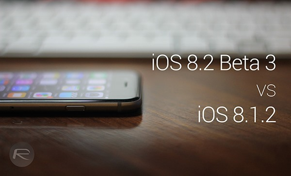 iOS 82 beta 3 vs iOS 812 main