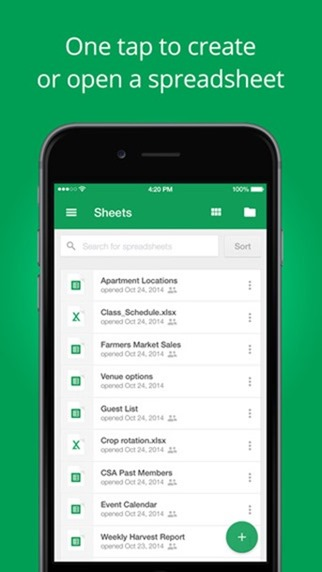 Google Docs, Sheets And Slides For iOS Updated With Touch ID