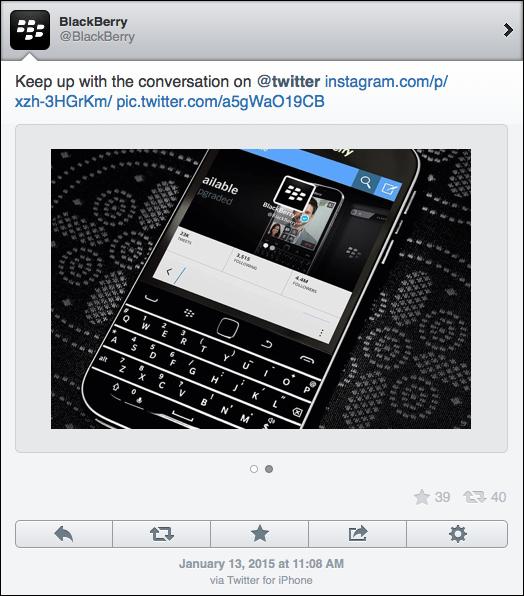 BlackBerry twitter iPhone