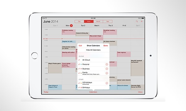 Calendar main