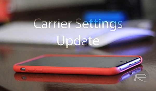 Carrier Settings Update main