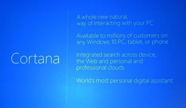 Cortana slide