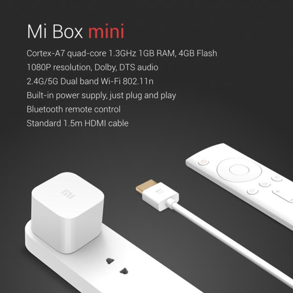Mi Box mini connectivity