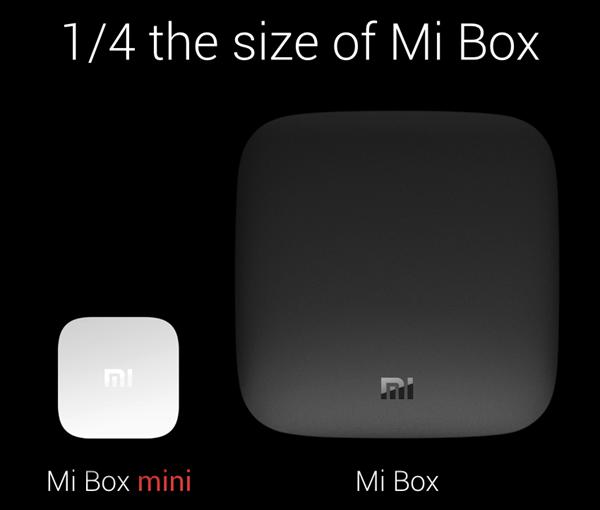 Mi Box mini size