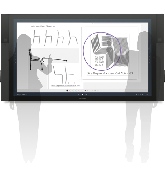 Surface hub ink