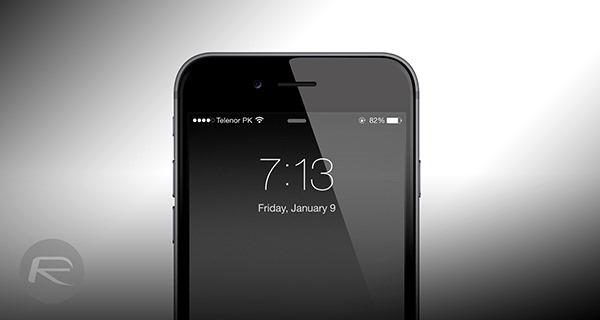 iPhone 6 lock screen fade