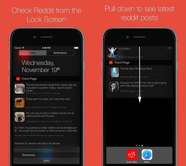 This Free iOS 8 Widget Puts The Reddit Front Page Into Notification
