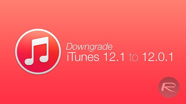 Downgrade iTunes main