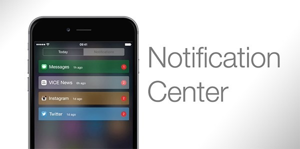 Notification Center concept main