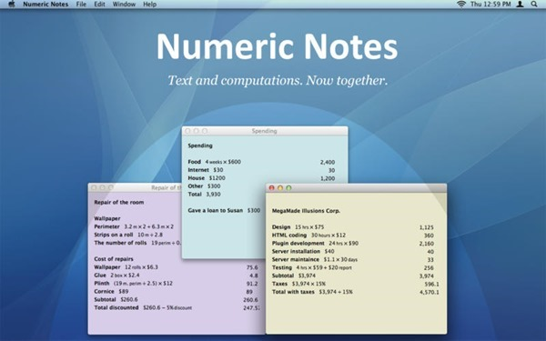 Numeric Notes