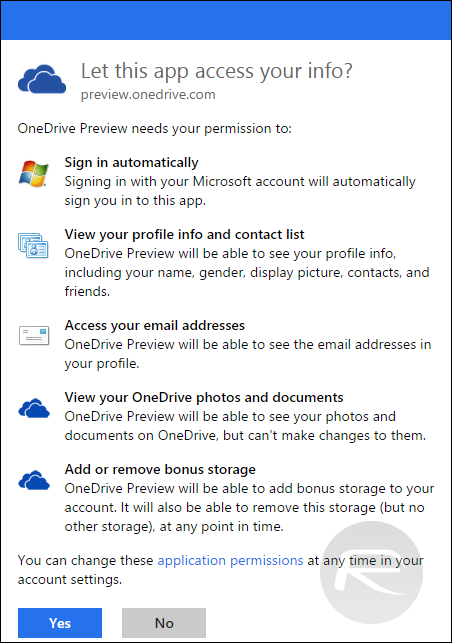 OneDrive Free 100GB Storage - 2