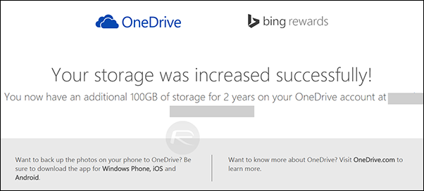 OneDrive Free 100GB Storage - 3