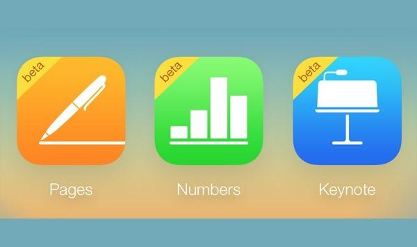 iWork for iCloud main