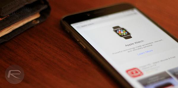 Apple Watch app store main