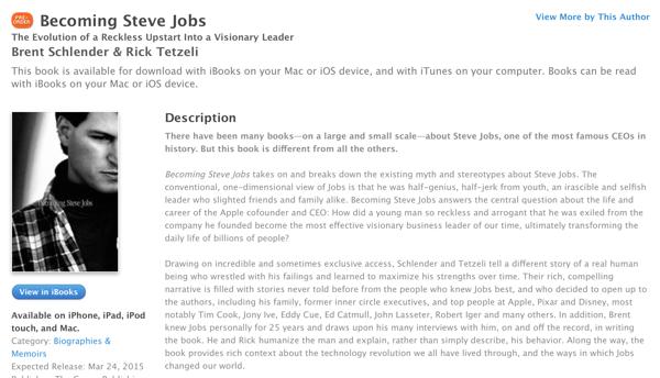 Becoming Steve Jobs iTunes