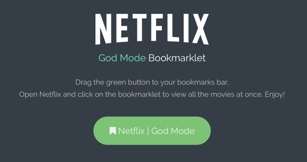 Netflix God Mode