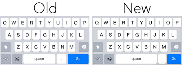 iOS 83 keyboard