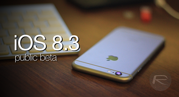 iOS 83 public beta main