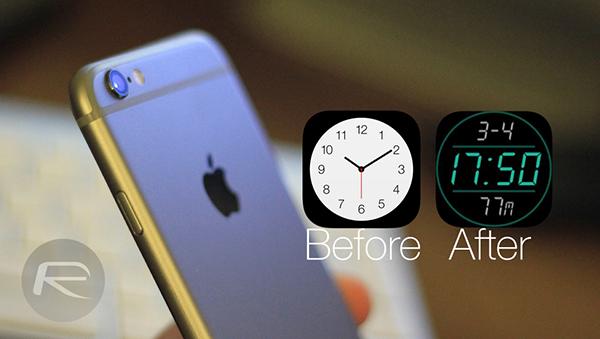iPhone clock icon main