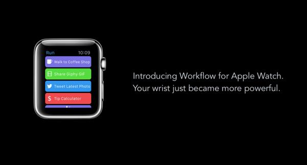 Apple Watch workflow main