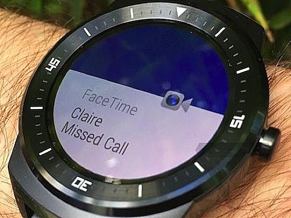 G Watch notification iOS