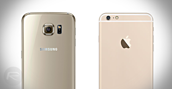 Galaxy S6 vs iPhone 6 back main