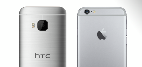 HTC One M9 vs iPhone 6 main