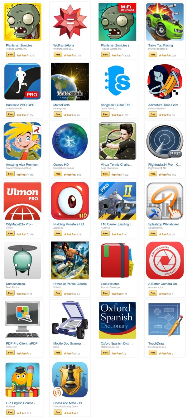 amazon appstore free apps android