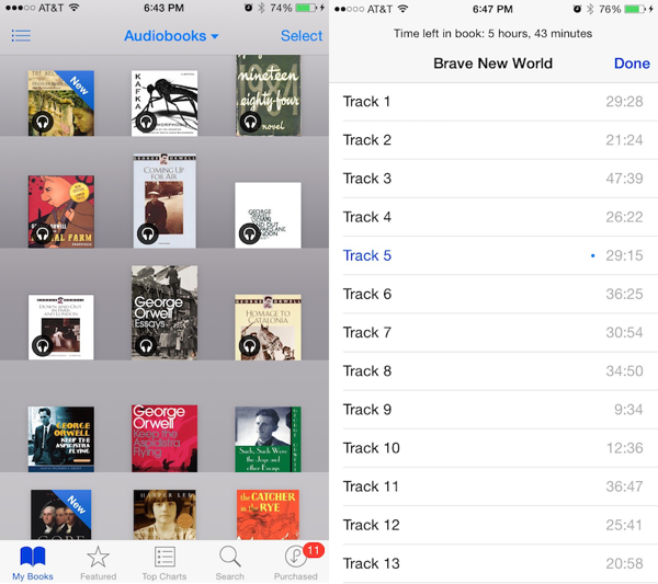 iOS 84 audiobooks