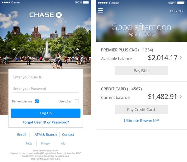 Chase Mobile App For iPhone Now Supports Touch ID Authentication