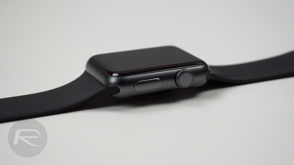 Apple Watch Sport Black Digital Crown and Side Button