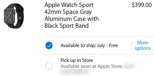 Apple watch in store