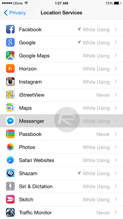 how to log off messenger on iphone disable turn messenger location logging on 20149