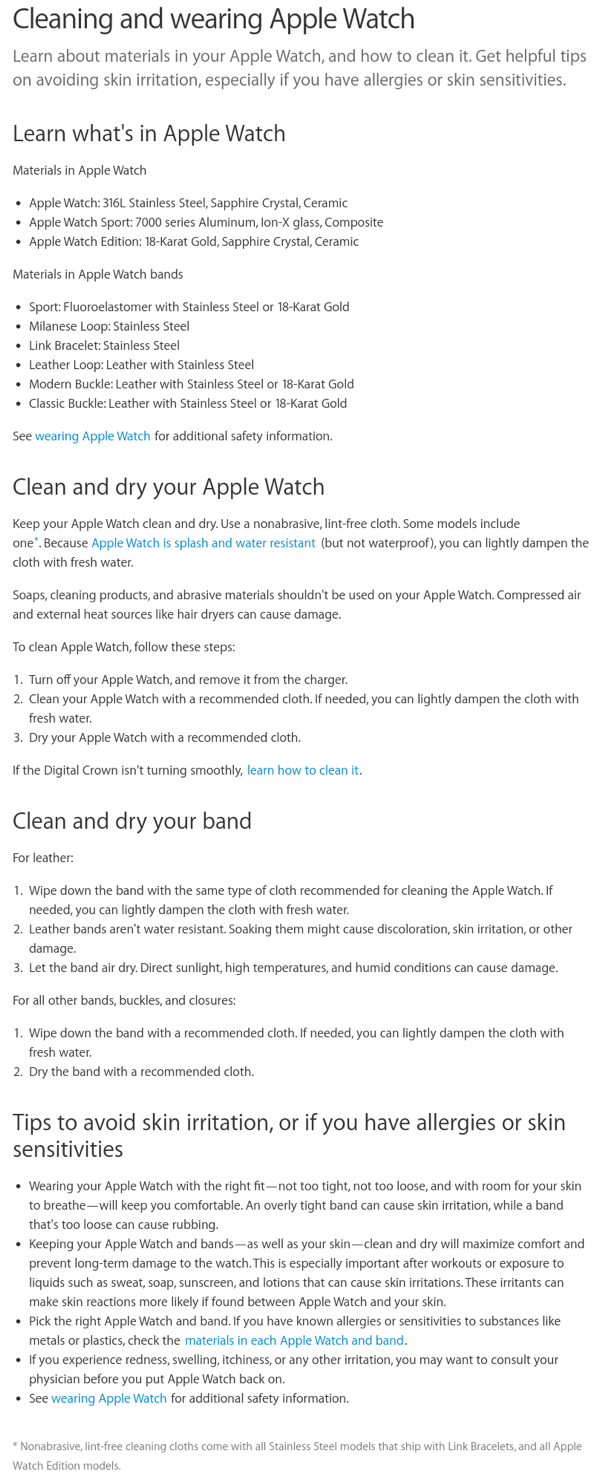 clean apple watch
