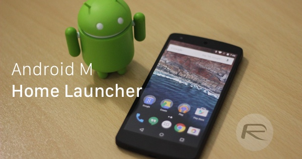 Android M home launcher main