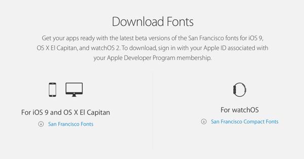 Download San Francisco Font Used In iOS 9, watchOS, El Capitan