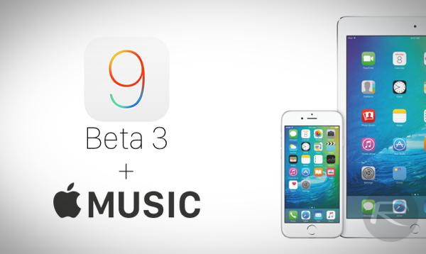 iOS 9 beta 3 Apple Music