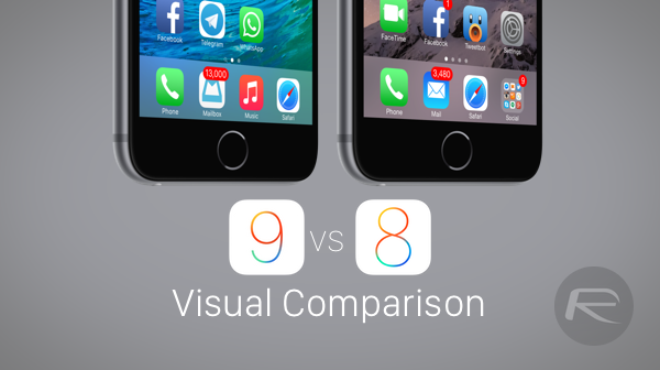 iOS 9 vs iOS 8 comparison main