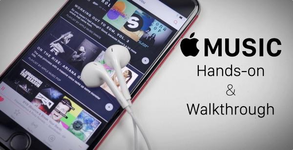 Apple Music handson walkthrough main