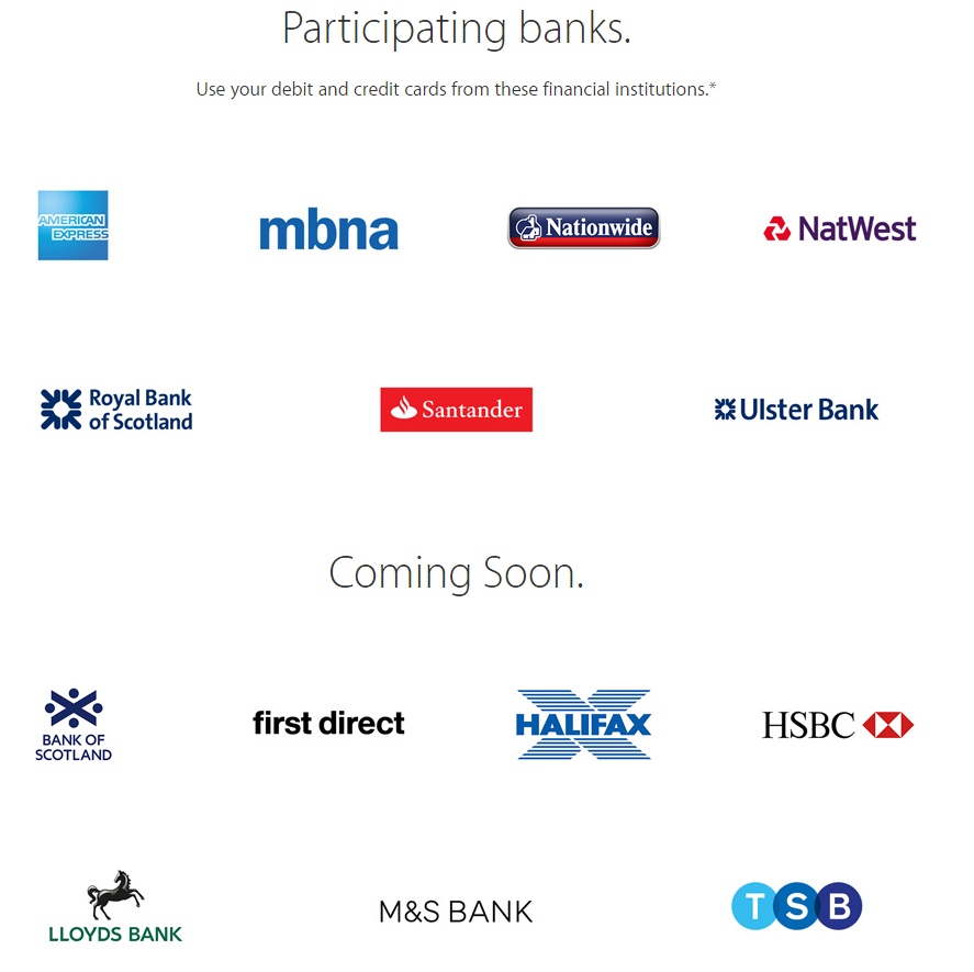 Apple Pay UK cards