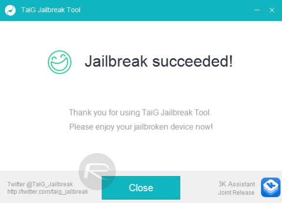 Taig jailbreak sc