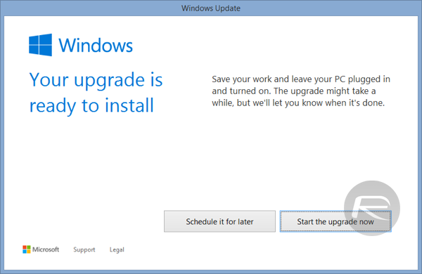 Windows 10 force download 12