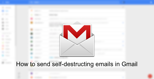 self destruct gmail main