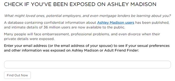Ashley madison account names