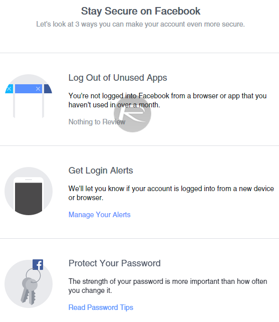 Facebook Securtiy Checkup - 1
