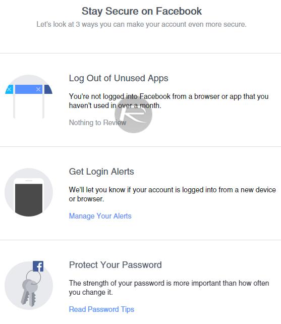 Facebook Securtiy Checkup - 1